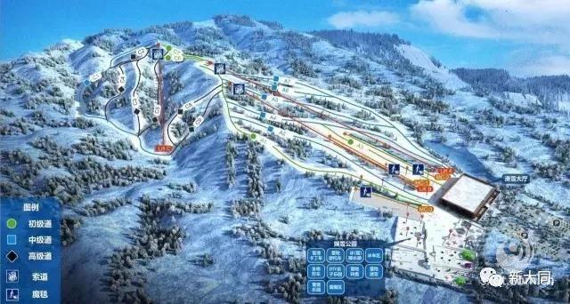 大同卧龙山滑雪场功能布局