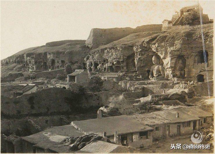 1930年的大同,华严寺不远的梳妆楼,是辽代萧太后外出的驻所