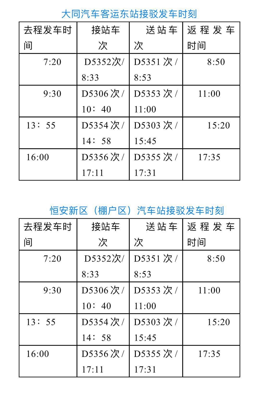 大同市关于对怀仁东站 乘坐动车旅客实行免费接驳